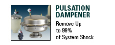 Pulsation Dampener, Remove Up to 99% of System Shock